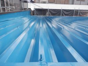 折板屋根塗装工事